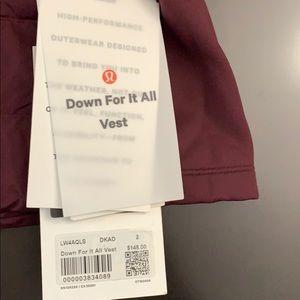 lululemon athletica Jackets & Coats - NWT lululemon down for it all vest size 2